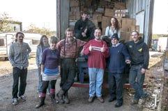 Medlemmar och volontärer från BookCycle UK Arkivbild
