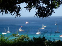 A medley of boats in admiralty bay. Stock Images