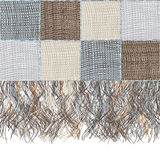 Medley checkered woolen plaid with fringe Royalty Free Stock Image