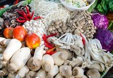 Medley Of Mushrooms. Mixture of many varieties of Thai mushroom Stock Photos