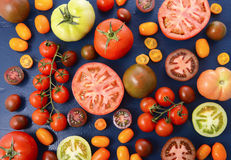 Medley of Tomato Varieties Royalty Free Stock Photography