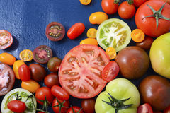 Medley of Tomato Varieties closeup Royalty Free Stock Images