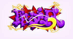 Medo Art Graffiti Imagem de Stock