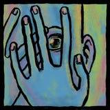 Medo azul ilustração stock