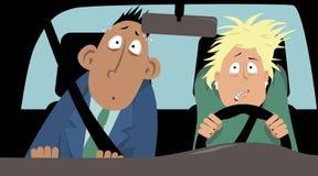 Medo da condução ilustração stock