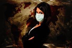Medo da infecção ilustração stock
