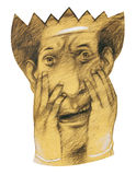 Medo da máscara Fotografia de Stock