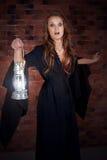 Medo da mulher receoso fotografia de stock