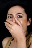 Medo da testemunha Foto de Stock