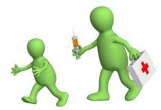 Medo da vacinação ilustração stock