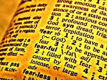 Medo do dicionário ilustração do vetor