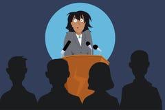 Medo do discurso público ilustração do vetor
