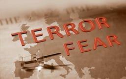 Medo do terror em Europa Imagens de Stock