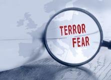 Medo do terror em Europa imagem de stock royalty free