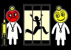 Medo dos psiquiatras ilustração do vetor