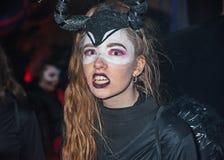 Medo em Dia das Bruxas imagens de stock
