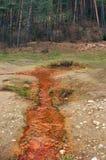 The Medokys spring in Kalameny, Natural landmark stock image