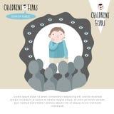 Medos comuns da infância ilustração do vetor
