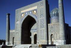 Medresseh, grand dos de Registan Photographie stock