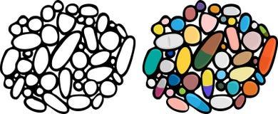 Meds, píldoras y drogas III Imágenes de archivo libres de regalías