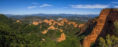 Medulas. Panorama, Las Medulas Natural Partk, Spain Stock Photography