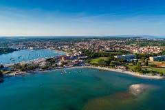 Medulin beach, Croatia. Aerial view from Medulin beach, Croatia stock photography