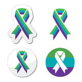 Medullary Sponge Kidney (MSK) awareness ribbon icons set Royalty Free Stock Images