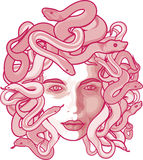 medusa vektor illustrationer