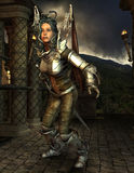 Medusa in armor Stock Images