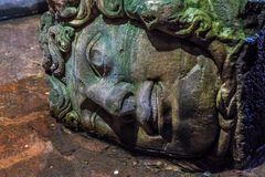 Medusa, Basilica cistern Istanbul Stock Photo