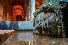 Medusa, Basilica cistern Istanbul Stock Photography