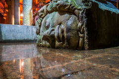 Medusa, Basilica cistern Istanbul Royalty Free Stock Photos