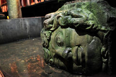 Medusa in Basilica Cistern Stock Images