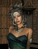 Medusa con las serpientes malas Fotografía de archivo