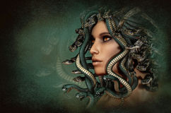 Medusa, 3d CG Royalty Free Stock Photo