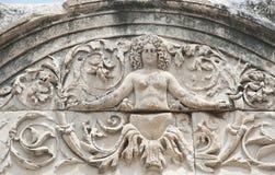 Medusa-Detail-Stein Stockfoto