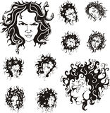 Medusa faces Stock Photos