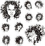 Medusa faces Stock Photos