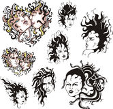 Medusa faces Royalty Free Stock Photography