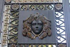 Medusa on a gate Royalty Free Stock Photo
