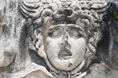 Medusa Gorgon in Apollo Temple Stock Photo