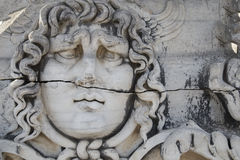 Medusa Gorgon in Apollo Temple, Didyma, Turkey, 2014. Medusa Gorgon in Apollo Temple in Didyma, Turkey, 2014 Royalty Free Stock Image