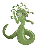 Medusa gorgon mythological greek roman snake woman monster Stock Photography