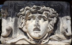 Medusa Gorgona. Medusa in Didim (Turkey) Ancient Greece, landmark Royalty Free Stock Image