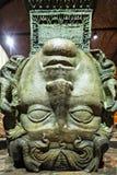 Medusa haed in The Basilica Cistern. Istanbul. Turkey royalty free stock image