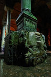 Medusa head in Basilica Cistern  Royalty Free Stock Image