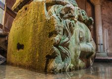 Medusa Head in Basilica Cistern,Istanbul Royalty Free Stock Photo