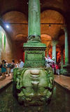 Medusa Head Basilica Cistern Istanbul Turkey Stock Photography