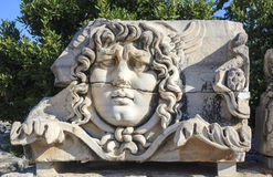 Medusa head bust in Didim, Turkey Royalty Free Stock Photography