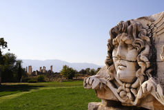 Medusa head at Didyma. A stone-carved Medusa head at Didyma Stock Images